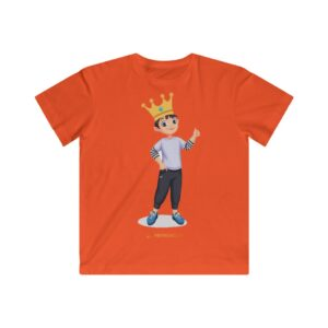 Kids Fine Jersey Tee – King Boy (Vanila)