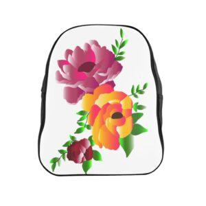School Backpack – Flowers