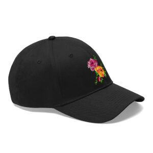 Unisex Twill Hat – Flowers