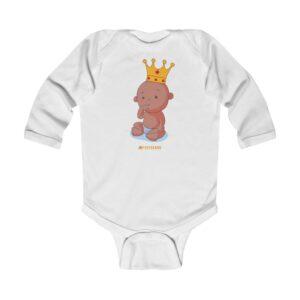 Infant Long Sleeve Bodysuit – Baby Queen(Chocolate)