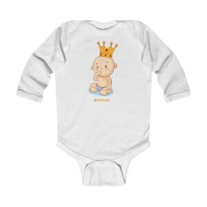 Infant Long Sleeve Bodysuit – Baby Queen(Vanila)