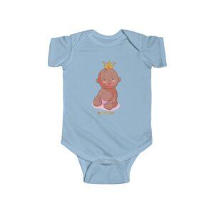 Infant Fine Jersey Bodysuit – Baby King(chocolate)
