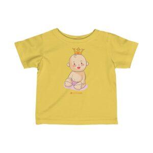 Infant Fine Jersey Tee – Baby King(Vanila)