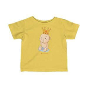 Infant Fine Jersey Tee-Baby Queen(Vanila)