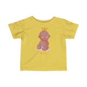 Infant Fine Jersey Tee – Baby King(Chocolate)