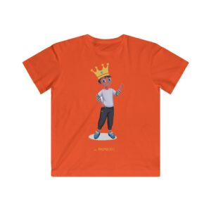 Kids Fine Jersey Tee – King Boy(Chocolate)