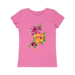 Girls Princess Tee – Flowers