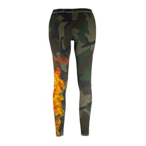 Women's Cut & Sew Casual Leggings – camo(fire)