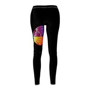 Women's Cut & Sew Casual Leggings – Butterfly(Black)