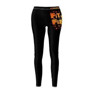 Women's Cut & Sew Casual Leggings – Fitness First(Black)