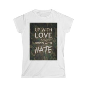 Women's Softstyle Tee – Up with love Camo Dark