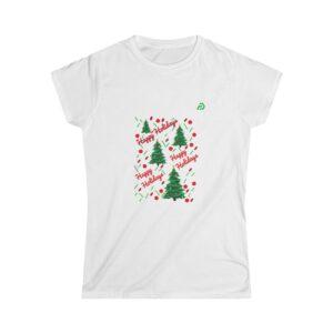 Women's Softstyle Tee – Happy Holidays