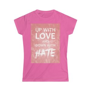 Women's Softstyle Tee – Up with love Camo Light