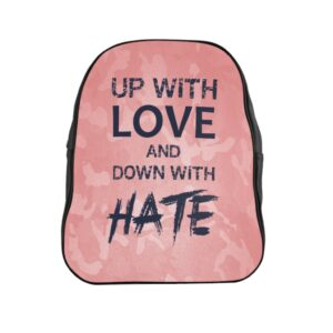 School Backpack – Up with Love Camo Pink