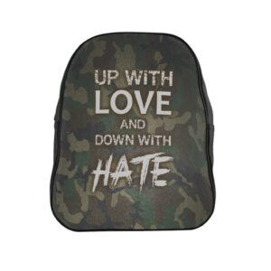 School Backpack – Up with Love Camo Green