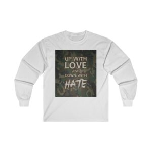 Ultra Cotton Long Sleeve Tee – Up with Love Camo Green