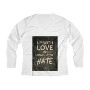 Women's Long Sleeve V-neck Tee – Up with Love Camo green