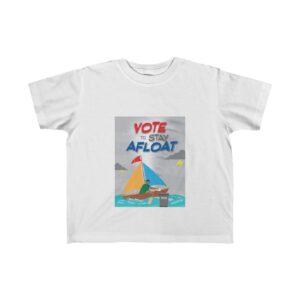 Little Kid's Fine Jersey Tee – Vote to Stay Afloat