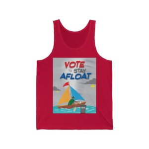 Ultra Cotton Tank Top – Vote to Stay Afloat